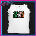 100% IRISH IRELAND ST PATRICKS DAY FLAG EMBLEM UNISEX VEST TOP